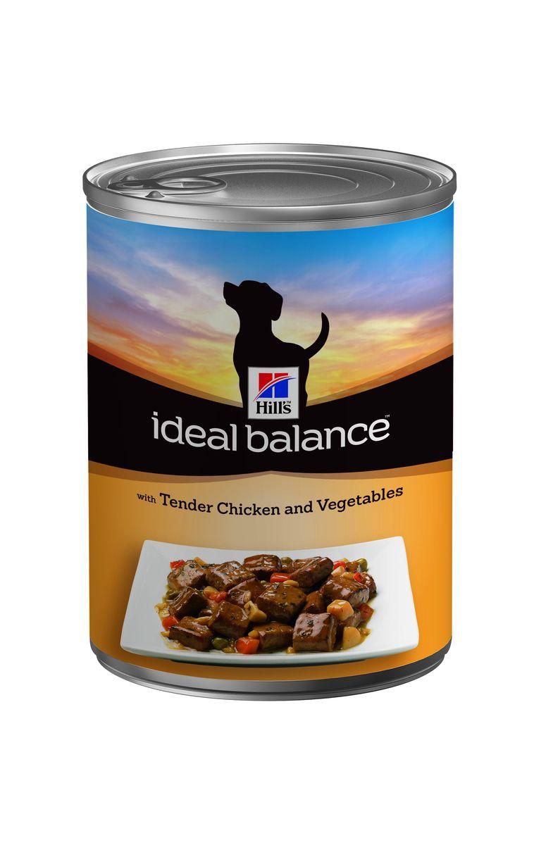 Консервы для взрослых собак Hills Ideal Balance, с курицей и овощами, 363 г2310Консервированный корм Hills Ideal Balance - это идеально сбалансированный рацион для поддержания здоровья вашей собаки. Натуральные ингредиенты плюс витамины, минералы и аминокислоты. Аппетитные кусочки консервированного рациона Hills Ideal Balanceизготовлены из натуральных ингредиентов и обеспечивают идеально сбалансированное питание вашей взрослой собаке. Гарантия 100% сбалансированного питания. Ключевые преимущества: - контролируемое содержание протеина, кальция, фосфора обеспечивает идеальный баланс нутриентов для крепкого здоровья; - не допускает избытка нутриентов, который может навредить здоровью; - корм без кукурузы, пшеницы и сои; - точный баланс натуральных ингредиентов. Рекомендуется: собакам от 1 года до 7 лет мелких и средних пород. Не рекомендуется: кошкам, щенкам, беременным и кормящи собакам. Дополнительная информация: Консервированный корм Hills Ideal Balance может...