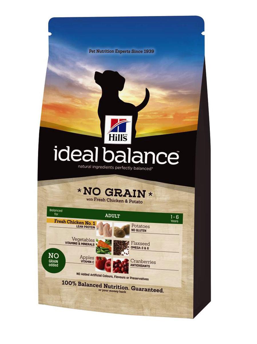 Корм сухой Hills Ideal Balance Canine Adult NO GRAIN для собак, курица и картофель, 700 г3220Рацион Ideal Balance компании Hill's идеально сбалансирован для поддержания здоровья вашей собаки. Корм без кукурузы, пшеницы и сои. Без искусственных красителей, ароматизаторов и консервантов. Натуральные ингредиенты плюс витамины, минералы и аминокислоты. Ингредиенты варьируются в зависимости от разновидности рациона Ideal Balance. РАВИЛЬНЫЙ Рекомендуется • Собакам мелких и средних пород от 1 до 7 лет, умеренно активным. Не рекомендуется • Кошкам. • Щенкам. • Беременным и кормящим сукам. Во время беременности и лактации сук необходимо переводить на сухой рацион для щенков Ideal Balance Puppy. Дополнительная информация • Рационы Ideal Balance Canine Adult выпускаются в сухом и консервированном виде. • Рацион Ideal Balance Canine Adult No Grain (беззерновой) подходит для кормления собак крупных пород. Ключевые преимущества • Контролируемое содержание протеина, кальция, фосфора...