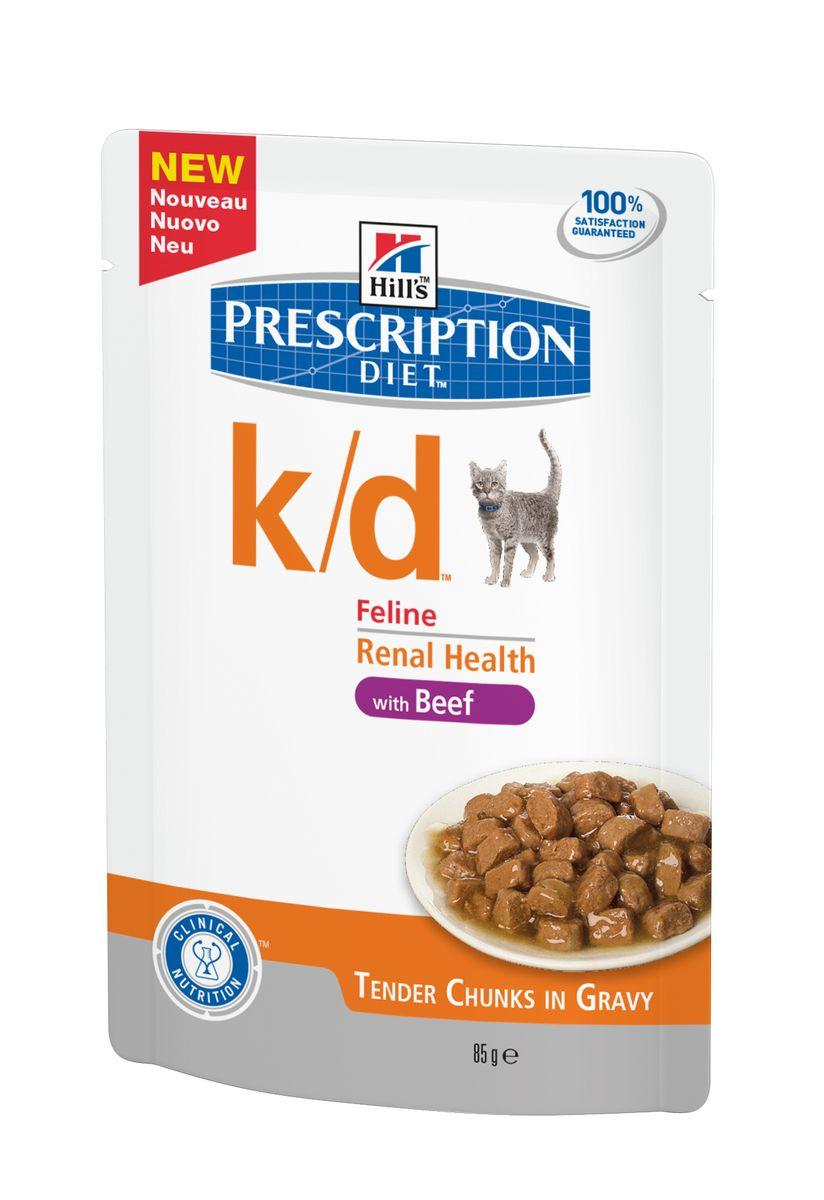 Консервы Hills Prescription Diet k/d Feline Renal Health для кошек, лечение заболеваний почек, 85 г3411Рационы Hills Prescription Diet клинически протестированы, разработаны для поддержания и коррекции состояния у животных, имеющих проблемы со здоровьем при сохранении превосходных вкусовых характеристик. Рационы Hills Prescription Diet могут быть рекомендованы только ветеринарным врачом. Они являются выбором ветеринарных врачей для диетотерапии у собственных домашних животных, страдающих заболеваниями или находящихся в группе риска. Рекомендуется • При хронических заболеваниях почек. • При заболеваниях сердца. • При уратном и цистиновом уролитиазе. Не рекомендуется • Котятам. • Беременным и кормящим кошкам. • Кошкам с дефицитом натрия в организме. Дополнительная информация • В 2-х летнем исследовании клинически доказано что у кошек, питавшихся рационом Hills Prescription Diet k/d Feline, значительно реже отмечались эпизоды уремии и снижался уровень смертности Ключевые...