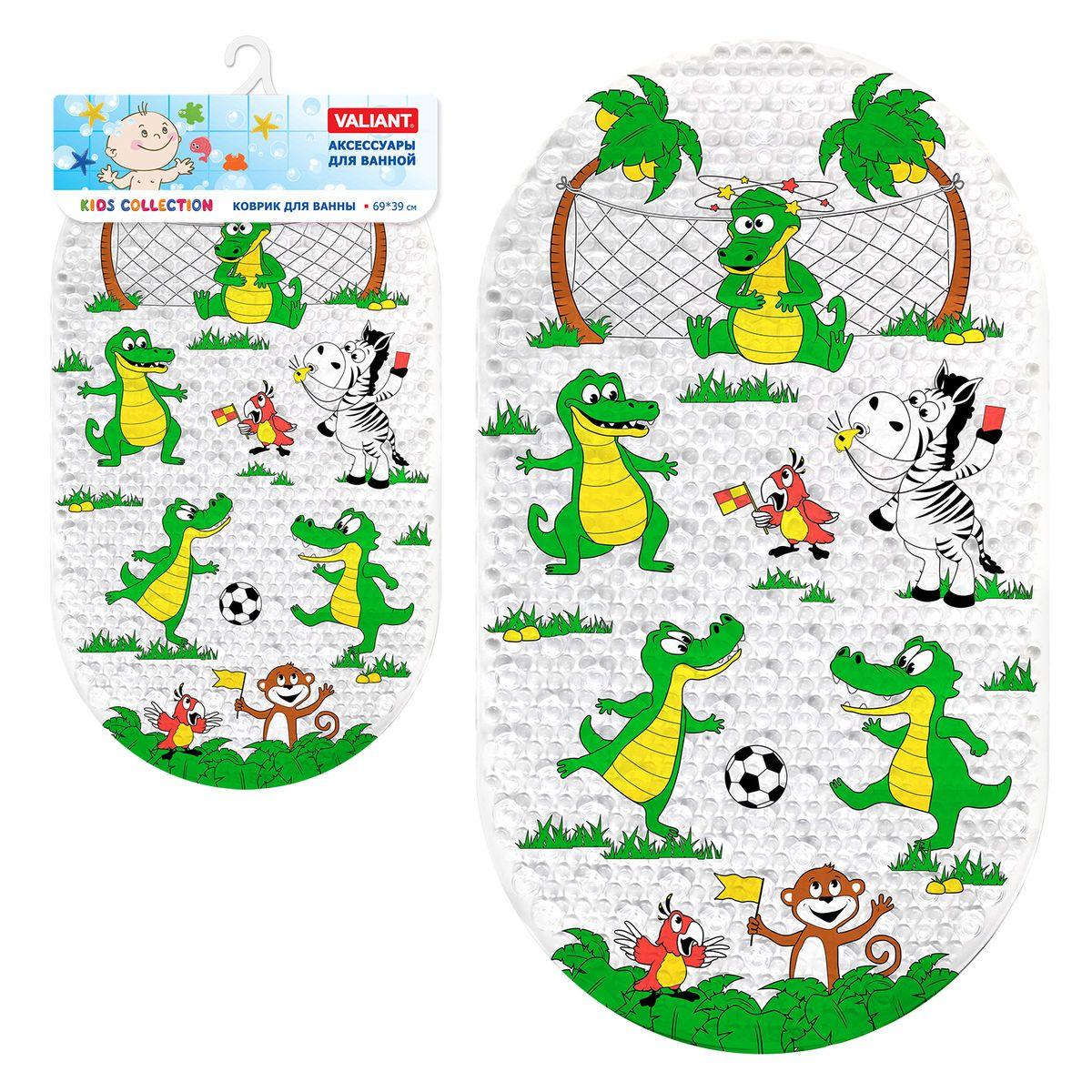 Valiant Коврик для ванной детский КрокодильчикиK6939-AL