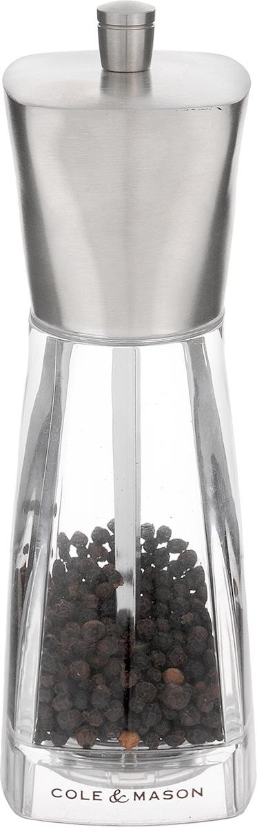 Мельница для перца Cole & Mason York, высота 16 смH59891PРучная мельница для перца Cole & Mason York - необходимый инструмент на любой кухне. Мельница предназначена для помола перца. Изделие выполнено из нержавеющей стали с матовой полировкой и стекла. Легко разбирается и моется. Мельница уже содержит перец.