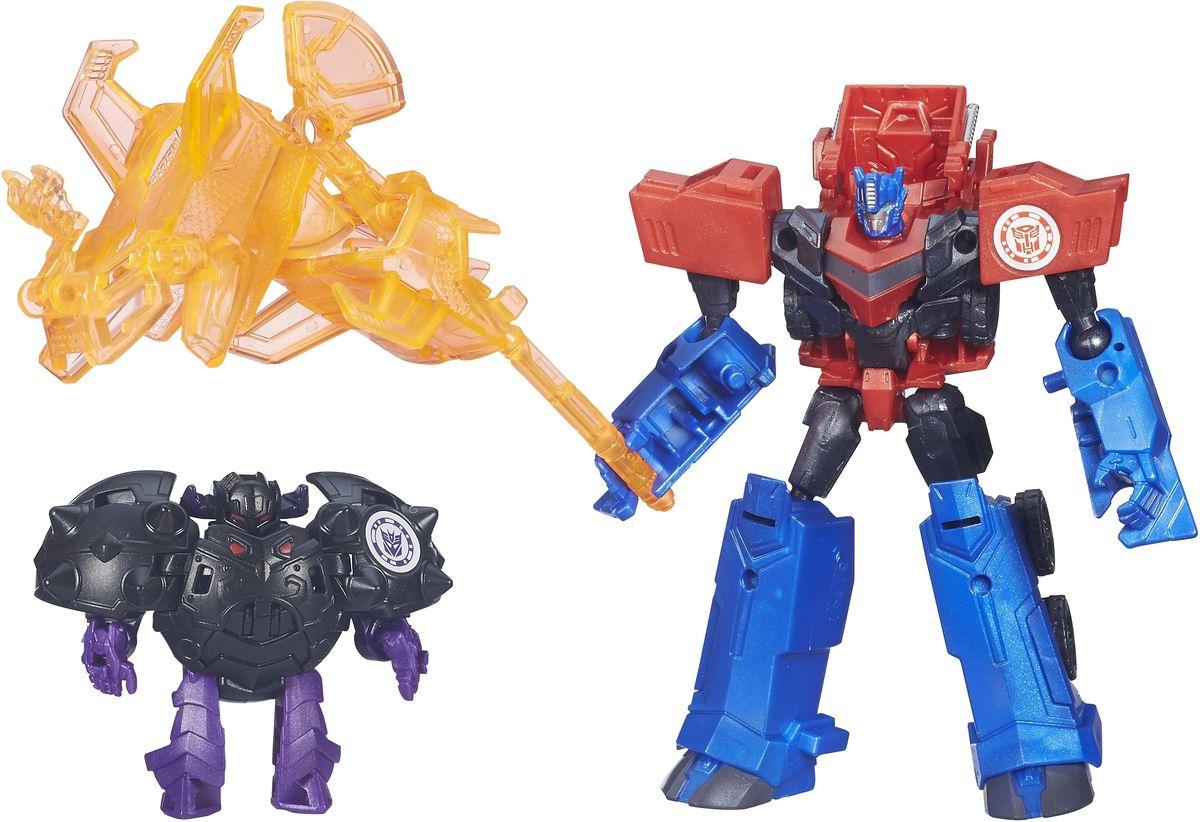 Transformers Трансформеры Optimus Prime Vs BludgeonB4713EU0_B4714Трансформер Transformers Optimus Prime Vs Bludgeon - это два трансформера - Оптимус Прайм и редкий трансформер-десиптекон Блаждеон. Трансформация роботов происходит в несколько простых шагов, после чего красно-синий Оптимус Прайм превращается в грузовой автомобиль, а Блаждеон складывается в круглый черный шар. Вместе с трансформерами в набор входят детали, из которых можно собрать мощное оружие или непробиваемую броню для Оптимуса. Игрушки изготовлены из прочного и высококачественного пластика.