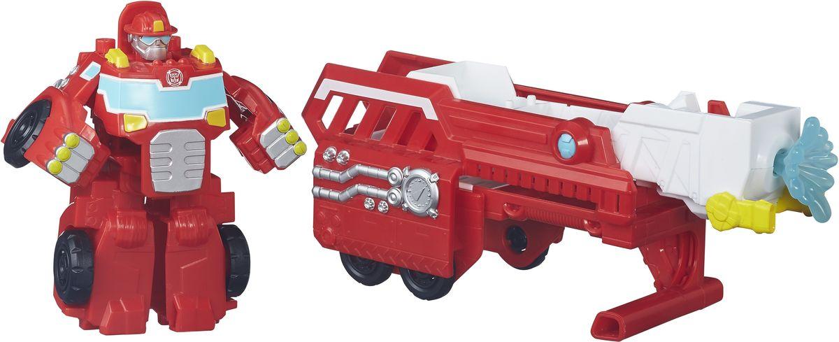 Playskool Heroes Трансформер Hook & Ladder HeatwaveB4951EU4_B4952Трансформер Playskool Heroes Hook & Ladder Heatwave обязательно порадует малыша. Он выполнен из прочного пластика в виде пожарной машины с прицепом. Автомобиль трансформируется в робота, а прицеп оснащен поднимающейся лестницей, которая может стрелять пластиковой струей воды (в комплекте). Колеса машинки и прицепа свободно вращаются, прицеп отсоединяется. Придумывать различные увлекательные сюжеты вместе с героями Playskool Heroes станет еще интереснее, ведь вы можете собрать целую коллекцию!