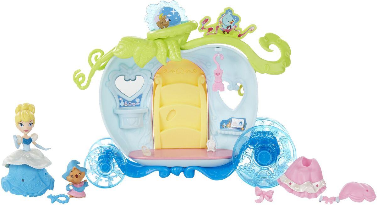 Disney Princess Игровой набор с куклой Золушка и волшебная каретаB5344EU4_B5345Игровой набор с куклой Disney Princess Золушка и волшебная карета состоит из очаровательной Золушки, мышки, кареты, дополнительного платья, туфельки, часов и бус. В карете Золушки есть зеркало и окошко. Дверца кареты открывается. На нарядах Золушки имеются отверстия, в которые можно вставлять украшения, комбинируя их по своему усмотрению. Сделайте вашей малышке такой замечательный подарок!