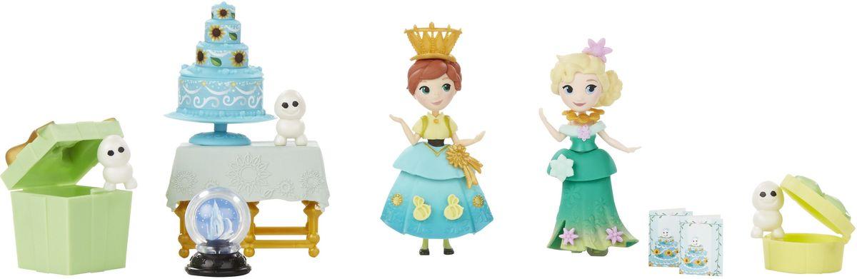 Disney Frozen Игровой набор Холодное торжество B5192B5191EU4_B5192Наступает пора праздновать день рождения Анны и способности Эльзы могут подарить всем гостям множество приятных сюрпризов. Игровой набор Disney Frozen Холодное торжество, созданный по мотивам диснеевского мультфильма, включает Анну и Эльзу в праздничных нарядах, трех снеговиков, два подарка, праздничный торт, снежный шар и два приглашения на праздник. Юбки, баски и корсеты кукол можно снимать, чтобы легко менять наряды. Вашей маленькой мечтательнице понравится создавать наряды куклам и дополнять их внешний вид украшениями из набора. Девочки могут украшать своих героинь другими аксессуарами и нарядами (продаются отдельно). Набор для праздника продается в чемоданчике с ручкой, чтобы ваша девочка могла носить его с собой куда угодно!