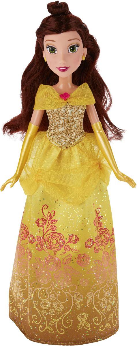 Disney Princess Кукла БелльB5287ES2_SolidКукла Disney Princess Белль поможет вашей малышке окунуться в сказочный мир. Куколка выполнена в виде главной героини диснеевского мультфильма Красавица и Чудовище. Бель одета в шикарное желтое платье с блестками и узорами в виде роз, длинные желтые перчатки. Шикарные каштановые волосы убраны в элегантную прическу. Голова, ручки и ножки куколки подвижны. Ваша малышка с удовольствием будет играть с этой куколкой, проигрывая сюжеты из мультфильма или придумывая различные истории.