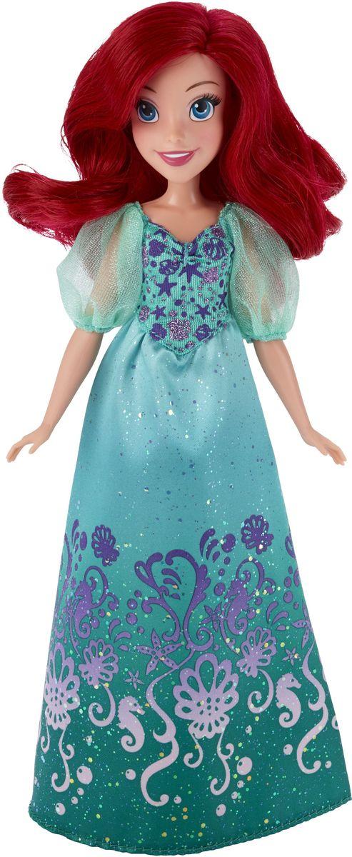 Disney Princess Кукла Ариэль цвет платья бирюзовыйB5285ES2_SolidКукла Disney Princess Ариэль - прекрасная принцесса, которая обязательно понравится вашей дочурке. Туловище куклы выполнено из высококачественного пластика, голова, ручки и ножки подвижны. Принцесса одета в платье бирюзового цвета, украшенное фиолетовыми узорами и блестками. Кукла имеет красивые длинные красные волосы, которые можно заплетать в различные прически. Такая куколка очарует вас и вашу дочурку с первого взгляда! Ваша малышка с удовольствием будет играть с принцессой, проигрывая сюжеты из мультфильма или придумывая различные истории. Порадуйте свою дочурку таким замечательным подарком!