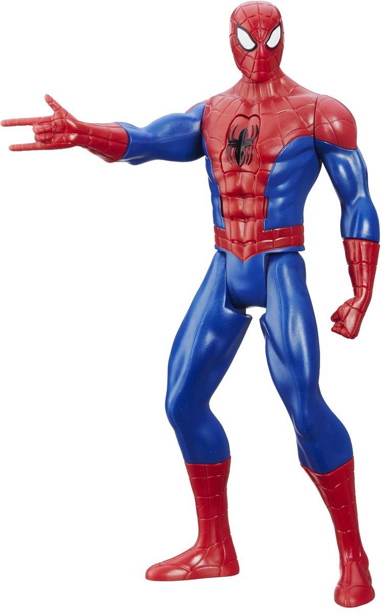 Spider-Man Фигурка Человек-паукB6133EU4_B5757Фигурка Титаны: Человек-паук порадует любого маленького поклонника героев Марвел. Фигурка изготовлена из высококачественного прочного пластика и выполнена в виде супергероя Человека-паука. Фигурка имеет несколько точек артикуляции - голова, руки, кисти рук и ноги подвижны. В центре груди имеется кнопка, которая включает уникальные звуковые эффекты. Фигурка понравится как детям, так и взрослым коллекционерам, она станет отличным сувениром или займет достойное место в коллекции любого поклонника комиксов о Человеке-Пауке. Для работы требуются 2 батарейки типа ААА (комплектуется демонстрационными).