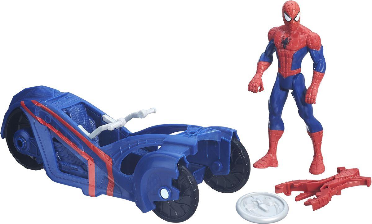 Spider-Man Человек-паук и уличный гонщикB5760EU4_B6392Обладая способностью выстреливать паутиной, Человек-паук защищает улицы Нью-Йорка в своем стильном и быстром гоночном автомобиле! Разыгрывайте битвы против злодеев вместе с этим набором. В машине имеется встроенная пусковая установка и снаряд, чтобы ребенок стрелял из нее, представляя, как побеждает злейших врагов Человека-паука. Человек-паук и уличный гонщик позволит вашему ребенку представить, как его любимые герои и злодеи отправляются в грандиозное высокоскоростное сражение! В набор входит фигурка, автомобиль и снаряд. Придумайте грандиозное высокоскоростное сражение!