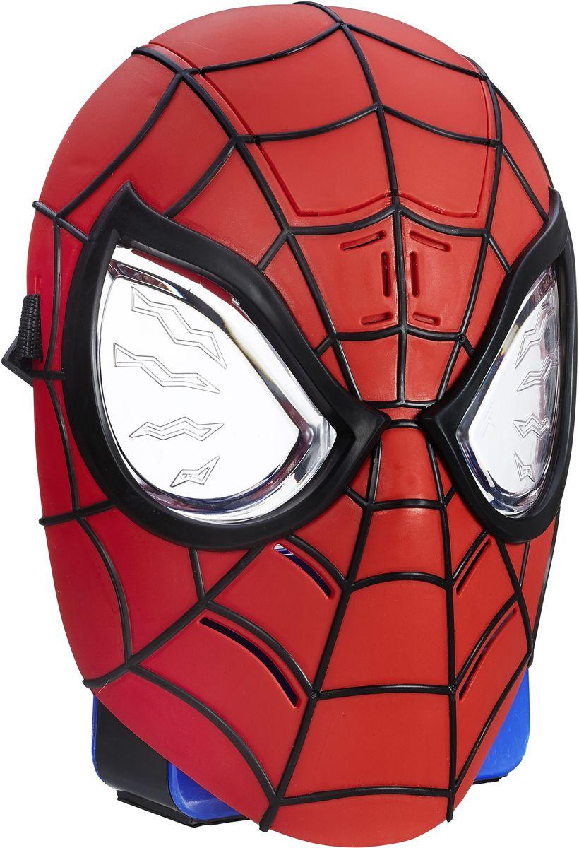 Spider-Man Интерактивная игрушка Маска Человека-паукаB5766EU4У вашего ребенка намечается детский утренник, бал-маскарад или карнавал? Интерактивная игрушка Spider-Man Маска Человека-паука внесет нотку задора и веселья в праздник и станет завершающим штрихом в создании праздничного образа. Маска позволит почувствовать себя настоящим супергероем, который борется против заклятых врагов, объединенных в Зловещую шестерку! Игрушка имеет звуковой модуль, который активируется при нажатии на подбородок. При звучании фраз у маски начинают светиться глаза; встроенные светодиоды, стилизованные под молнии, срабатывают в такт с произносимой речью. Всего можно услышать более 20 различных фраз и звуков. Маска выполнена в классическом красно-черном цветовом сочетании. Выразительные глаза контрастом выделяются на фоне красной маски, что выглядит весьма впечатляюще. Благодаря регулируемым ремешкам маска подойдет для фанатов всех возрастов! Перевоплотитесь в своего любимого супергероя с этой маской! Рекомендуется докупить 2 батарейки напряжением...