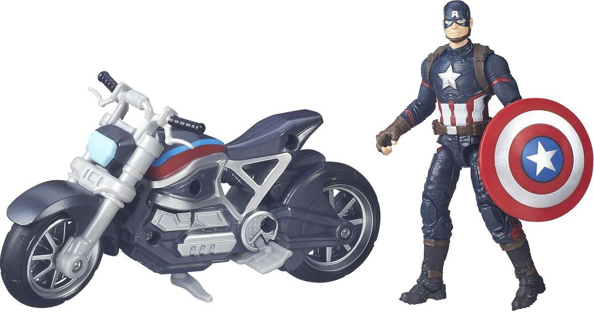 Avengers Игровой набор Captain America with MotorcycleB6354EU4Игровой набор Avengers Captain America with Motorcycle состоит из фигурки Капитана Америки, щита и мотоцикла. Элементы набора выполнены из высококачественных материалов с сохранением максимальной детализации. Для настоящих ценителей качества. Фигурка имеет несколько точек артикуляции. Капитана можно усадить на мотоцикл, на руле которого находится крепление для щита. Набор позволит вашему малышу воссоздать самые захватывающие моменты из любимого фильма о Мстителях. Порадуйте свое чадо таким замечательным подарком!