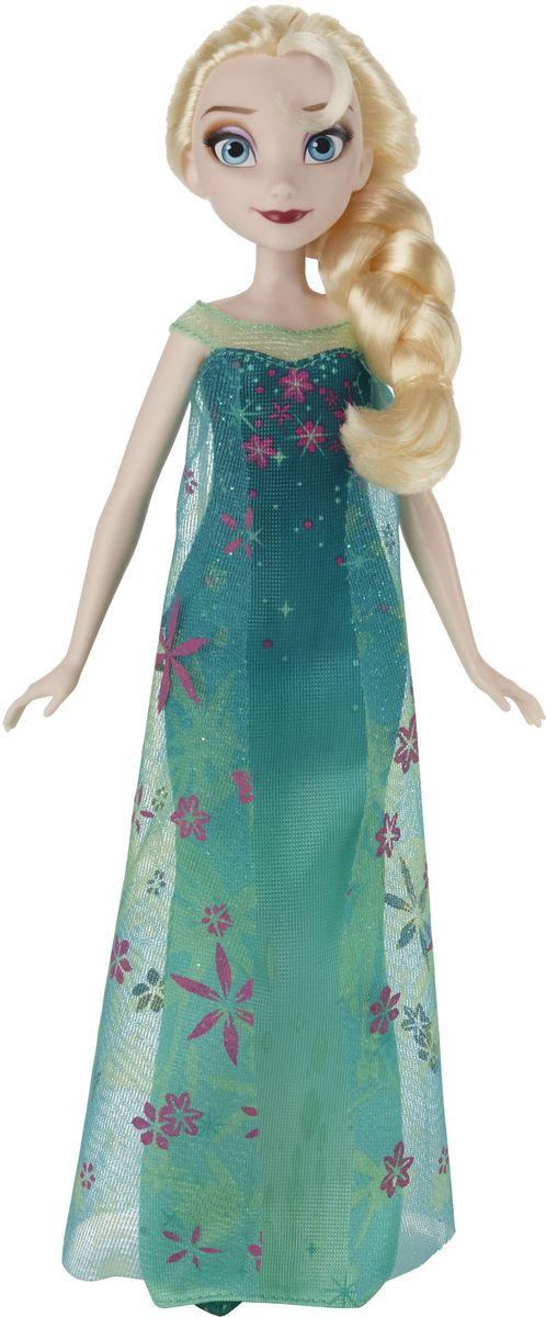 Disney Frozen Кукла Эльза цвет платья зеленыйB5165ES2_SolidКукла Disney Frozen Эльза поможет вашей малышке окунуться в сказочный мир. Куколка выполнена в виде главной героини диснеевского мультфильма Холодное сердце. Эльза одета в красивое платье зеленого цвета с цветочным узором и блестками. На ногах элегантные зеленые туфельки. Шикарные светлые волосы заплетены в толстую косу. Голова, ручки и ножки куколки подвижны. Ваша малышка с удовольствием будет играть с этой куколкой, проигрывая сюжеты из мультфильма или придумывая различные истории.