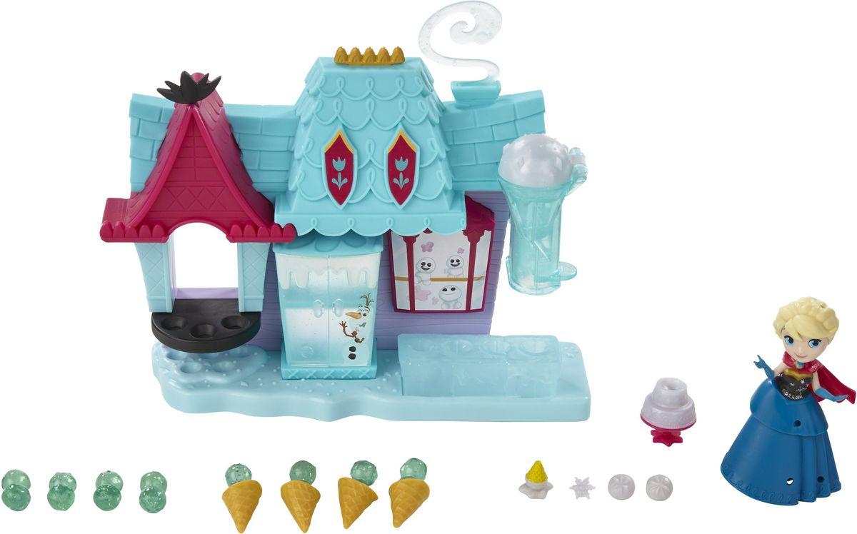 Disney Frozen Игровой набор Магазин сладостей ЭренделлаB5194EU4_B5195Игровой набор Disney Frozen Магазин сладостей Эренделла станет отличным подарком для любой девочки. В комплект входят магазин с мороженым и мини-кукла Эльза. Магазин по производству и продаже лакомства таит в себе много сюрпризов. В нем предусмотрен холодильник с полочками, подоконник с подставкой для шариков мороженого и специальное приспособление для изготовления рожков с холодным десертом. Наряд мини-куклы Эльзы можно украсить с помощью дополнительных аксессуаров. Все детали комплекта выполнены из прочных нетоксичных материалов. Игровой набор Disney Frozen Магазин сладостей Эренделла непременно порадует вашу маленькую принцессу и подарит ей массу положительных эмоций.