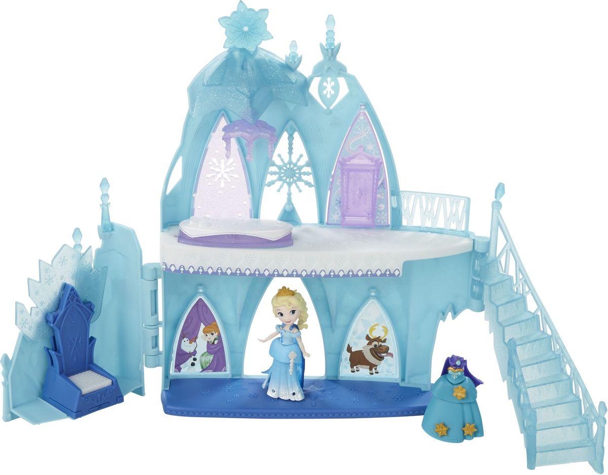 Disney Frozen Игровой набор Ледяной дворец ЭльзыB5197EU4Игровой набор для маленьких кукол: ледяной дворец Эльзы. Включает в себя Эльзу в ее классическом платье и дополнительно - платье для коронации, в которое она может переодеться. Замок дает девочкам возможность помочь Эльзе создать свой дом. Пол переворачивается, чтобы можно было увидеть кровать. Занавески переворачиваются, чтобы можно было увидеть гардероб, где Эльза может хранить одежду. Ледяные кристаллы внезапно появятся, когда Эльза встанет на работающий лифт. Окно перевернется, и можно будет увидеть Анну, Снежного монстра и Олафа. В наборе: 2 юбки, 2 плаща, 2 топа и 2 аксессуара для волос.