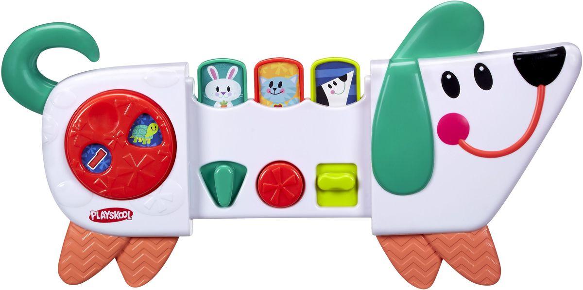 Playskool Развивающая игрушка Веселый щенокB4532EU4Развивающая игрушка Playskool Веселый щенок - милая игрушка, которая поможет провести время весело и с интересом. Щенок изготовлен из качественного пластика, у него веселая мордашка, озорные глаза и очаровательная улыбка. У веселого щенка есть три режима игры: переключай, нажимай и раздвигай. Игра со щенком развивает мелкую моторику, познавательные способности и понимание причинно-следственных связей. В комплекте есть универсальный ремень, которым игрушку можно прикрепить к коляскам, автокреслам, тележкам для шоппинга.