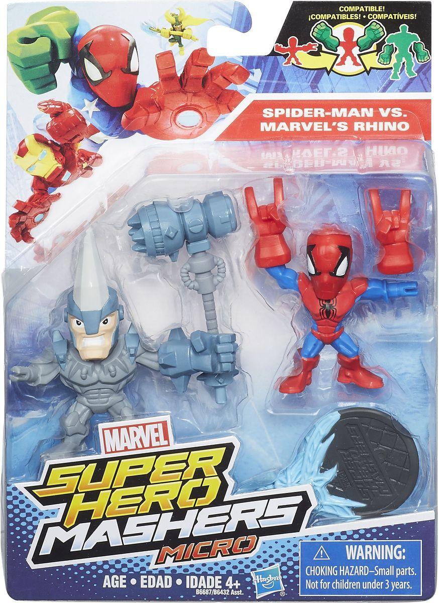 HeroMashers Набор фигурок Человек-паук против Носорога