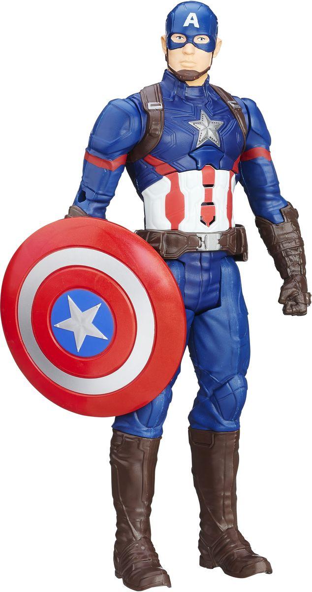 Avengers Фигурка Капитан АмерикаB6176121Фигурка Avengers Титаны: Капитан Америка порадует любого маленького поклонника знаменитого фильма Мстители (Avengers). Фигурка изготовлена из высококачественного прочного пластика и выполнена в виде супергероя Капитана Америки. Фигурка имеет 5 точек артикуляции - голова, руки и ноги подвижны. В центре груди имеется кнопка, которая включает звуковые эффекты - фразы из фильма и звуки сражения. В комплект также входит оружие героя - его верный щит. Капитан Америка - альтер эго Стива Роджерса, болезненного юноши, который был усилен экспериментальной сывороткой до максимума физической формы, доступной человеку, дабы помочь военным операциям США. Капитан Америка одет в костюм, раскрашенный на мотив американского флага, и вооружён неразрушимым щитом, который можно использовать в качестве оружия. Фигурка понравится как детям, так и взрослым коллекционерам, она станет отличным сувениром или займет достойное место в коллекции любого поклонника комиксов о непобедимых...