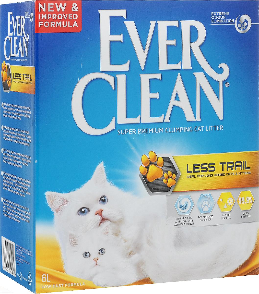 Наполнитель для кошачьего туалета Ever Clean Less Trail, комкующийся, для длинношерстных кошек, 6 л492215_Less TrailНаполнитель Ever Clean Less Trail - это элитная серия высококачественных комкующихся наполнителей с уникальными свойствами. Наполнитель состоит из специально обработанной и очищенной от пыли глины. Гранулы наполнителя обладают уникальными впитывающими свойствами и содержат активный компонент, который уничтожает запах, связанный с развитием микробов. В ядро каждой гранулы помещен специальным образом обработанный активированный уголь для максимального контроля запахов. Гранулы наполнителя не только отлично впитывают, но и образуют крепкие трудноразбиваемые комки. Благодаря крупным гранулам, он меньше разбрасывается по сторонам и не прилипает к шерсти, идеально подходит для длинношерстных кошек. Состав: глина, активированный уголь. Объем: 6 л.