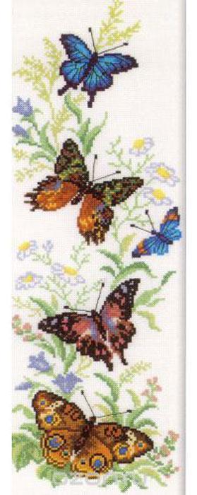 Набор для вышивания крестом RTO Порхающие бабочки, 16 х 45 смM147Красивый рисунок-вышивка, выполненный на канве, выглядит оригинально и всегда модно. Работа, сделанная своими руками, создаст особый уют и атмосферу в доме и долгие годы будет радовать вас и ваших близких. Набор для вышивания RTO Порхающие бабочки содержит все необходимые материалы. Вышивка выполняется швом счетный крест в две нити мулине. В состав набора входит: - канва Aida 14 белого цвета (100% хлопок, 5,5 клеток = 1 см, рисунок не нанесен); - вышивальные нитки-мулине DMC на карте, разобранные по цветам (23 цвета, 100% хлопок); - символьная схема; - инструкция; - игла для вышивания. Уровень сложности: 4.