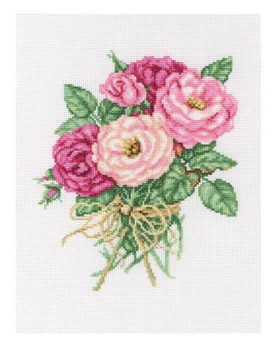 Набор для вышивания крестом RTO Букетик роз, 19 х 22 смМ563Красивый рисунок-вышивка, выполненный на канве, выглядит оригинально и всегда модно. Работа, сделанная своими руками, создаст особый уют и атмосферу в доме и долгие годы будет радовать вас и ваших близких. Набор для вышивания RTO Букетик роз содержит все необходимые материалы. Вышивка выполняется швом счетный крест в две нити мулине. В состав набора входит: - канва Aida 14 белого цвета (100% хлопок, 5,5 клеток = 1 см, рисунок не нанесен); - вышивальные нитки-мулине DMC на карте, разобранные по цветам (30 цветов, 100% хлопок); - символьная схема; - инструкция; - игла для вышивания. Уровень сложности: 3.