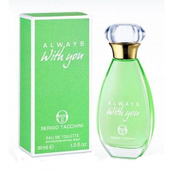 Sergio Tacchini Always With You Woman Туалетная вода, 100 мл12500Древесные, цитрусовые. Бергамот, лимон, фруктовые ноты, яблоко, кедр, мускус, сандаловое дерево, ландыш, роза.