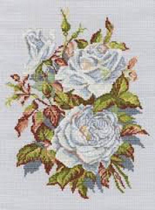 Набор для вышивания крестом RTO Белые розы, 23 х 31 смМ407Красивый рисунок-вышивка, выполненный на канве, выглядит оригинально и всегда модно. Работа, сделанная своими руками, создаст особый уют и атмосферу в доме и долгие годы будет радовать вас и ваших близких. Набор для вышивания RTO Белые розы содержит все необходимые материалы. Вышивка выполняется швом счетный крест в две нити мулине. В состав набора входит: - канва Aida 14 светло-серого цвета (100% хлопок), 5,5 клеток = 1 см; - вышивальные нитки-мулине DMC на карте, разобранные по цветам (18 цветов, 100% хлопок); - символьная схема; - инструкция; - игла для вышивания. Уровень сложности: 3.