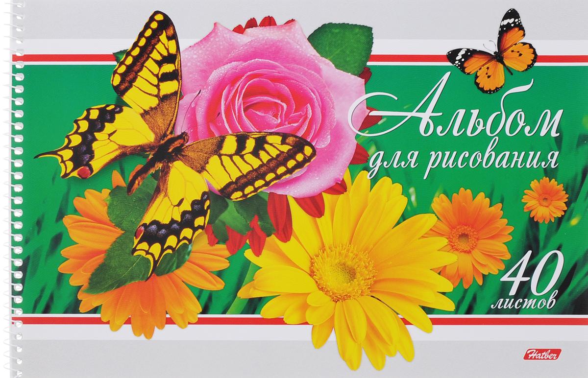 Hatber Альбом для рисования Бабочки с цветами 40 листов цвет зеленый40А4тBсп_зеленыйАльбом для рисования Hatber Бабочки с цветами обязательно порадует юного художника и вдохновит его на творчество. Альбом изготовлен из белоснежной бумаги с яркой обложкой из плотного картона, оформленной изображением бабочки на цветах. Способ крепления - металлическая спираль. Высокое качество бумаги позволяет рисовать в альбоме карандашами, фломастерами, акварельными и гуашевыми красками.