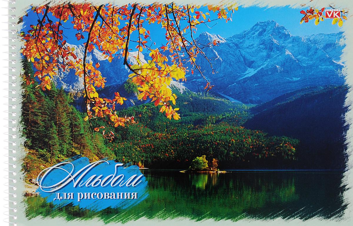 Hatber Альбом для рисования Природа 40 листов цвет светло-зеленый 40А4Cсп_11247
