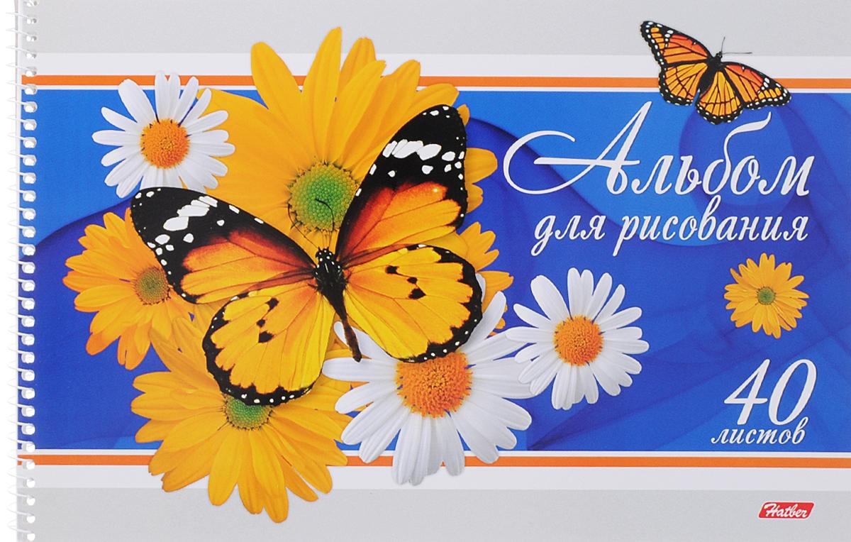 Hatber Альбом для рисования Бабочки с цветами 40 листов цвет синий40А4тBсп_синийАльбом для рисования Hatber Бабочки с цветами порадует юного художника и вдохновит его на творчество. Альбом изготовлен из белоснежной бумаги с яркой обложкой из плотного картона, оформленной изображением бабочки на цветах. Способ крепления - металлическая спираль. Высокое качество бумаги позволяет рисовать в альбоме карандашами, фломастерами, акварельными и гуашевыми красками.