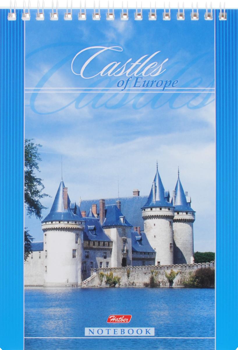 Hatber Блокнот Castles of Europe 60 листов в клетку60Б5B1сп_синийБлокнот Hatber Castles of Europe - незаменимый атрибут современного человека, необходимый для рабочих и повседневных записей в офисе и дома. Фронтальная часть обложки выполнена из картона и оформлена изображением замка. Тыльная часть обложки выполнена из плотного картона, что позволяет делать записи на весу. Внутренний блок состоит из 60 листов белой бумаги. Стандартная линовка в голубую клетку без полей. Листы блокнота соединены металлическим гребнем.
