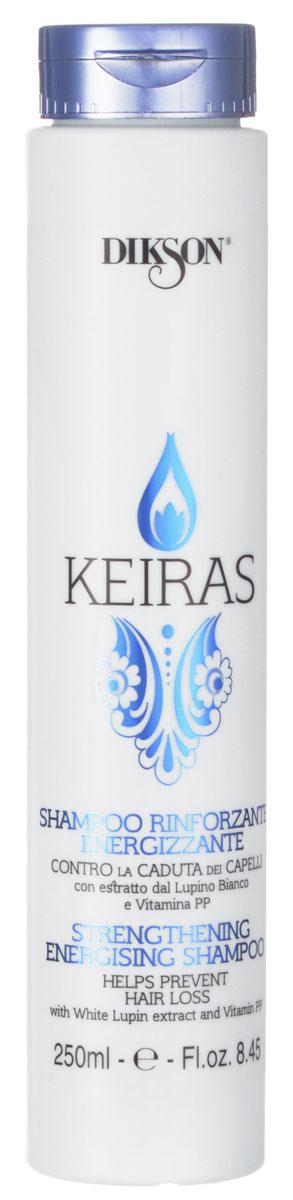 Dikson Укрепляющий шампунь против выпадения волос Keiras Shampoo Rinforzante Energizzante 250 мл1550Рекомендован не только при проблеме выпадения волос, но также для очень тонких, ослабленных, пушковых и детских волос. Стимулирует кровообращение и клеточный метаболизм, благодаря витамину PP помогает остановить выпадение волос.