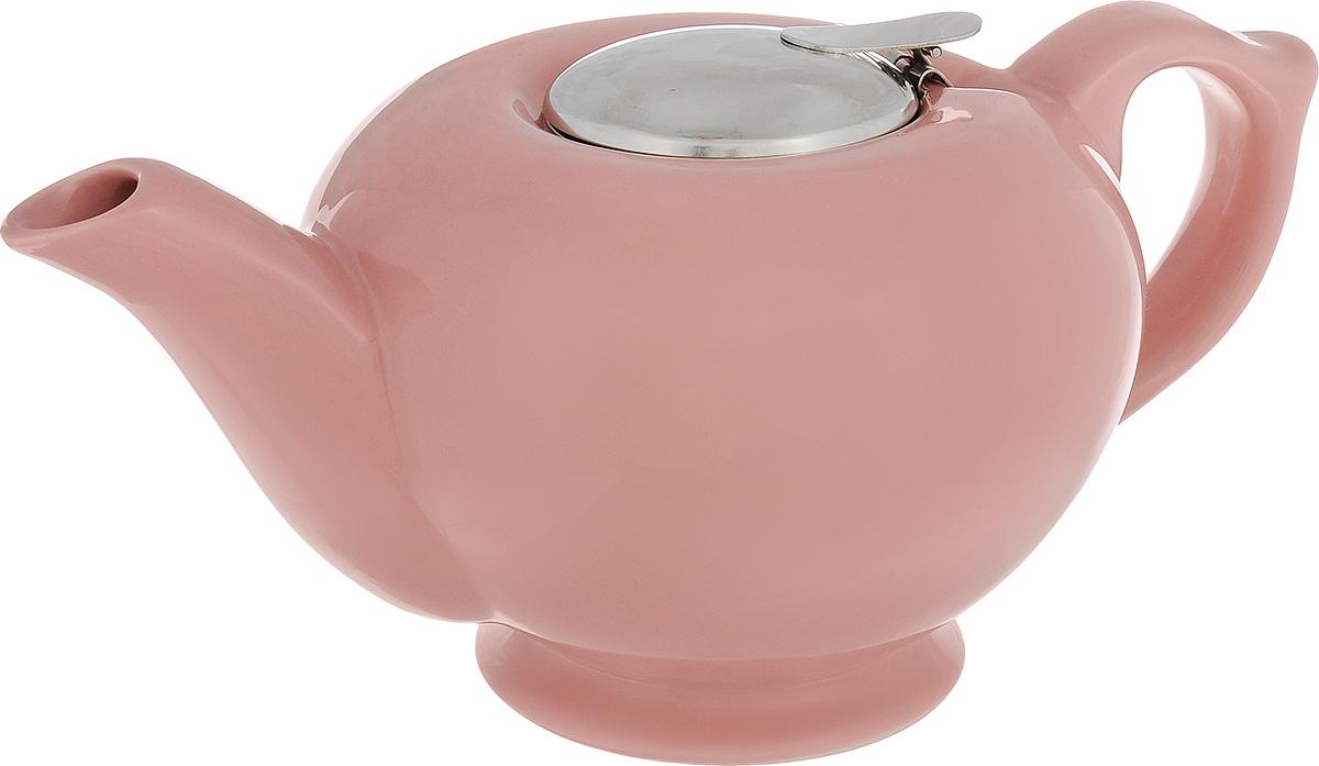 Чайник заварочный Loraine, с фильтром, цвет: розовый, 1,2 л23060_розовыйЗаварочный чайник Loraine изготовлен из высококачественной керамики и снабжен крышкой из нержавеющей стали. Изделие оснащено фильтром, благодаря которому задерживает чаинки и предотвращает их попадание в чашку. Глянцевый корпус обеспечивает легкую очистку. Чайник поможет заварить крепкий ароматный чай и великолепно украсит стол к чаепитию. Диаметр чайника (по верхнему краю): 12,5 см. Высота чайника (без учета крышки): 12 см. Высота фильтра: 6 см.