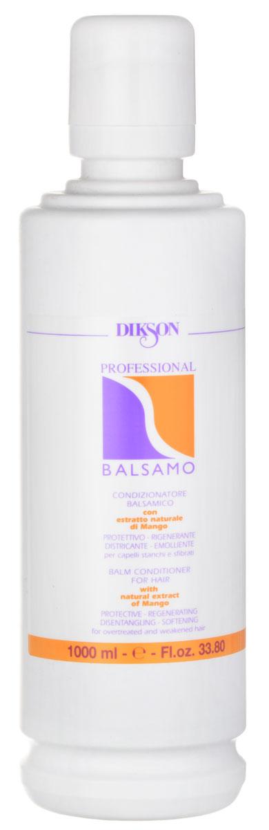 Dikson Профессиональный бальзам-кондиционер Professional Balsam 1000 мл805Dikson Professional Balsam - косметическое средство, которое прекрасно сочетается с шампунями серии One's и рекомендован для ухода за волосами всех типов. В его основе лежит такой активный компонент, как вытяжка масла манго. Бальзам обеспечивает волосам питание и увлажнение, восстанавливает целостность гидролипидного слоя.