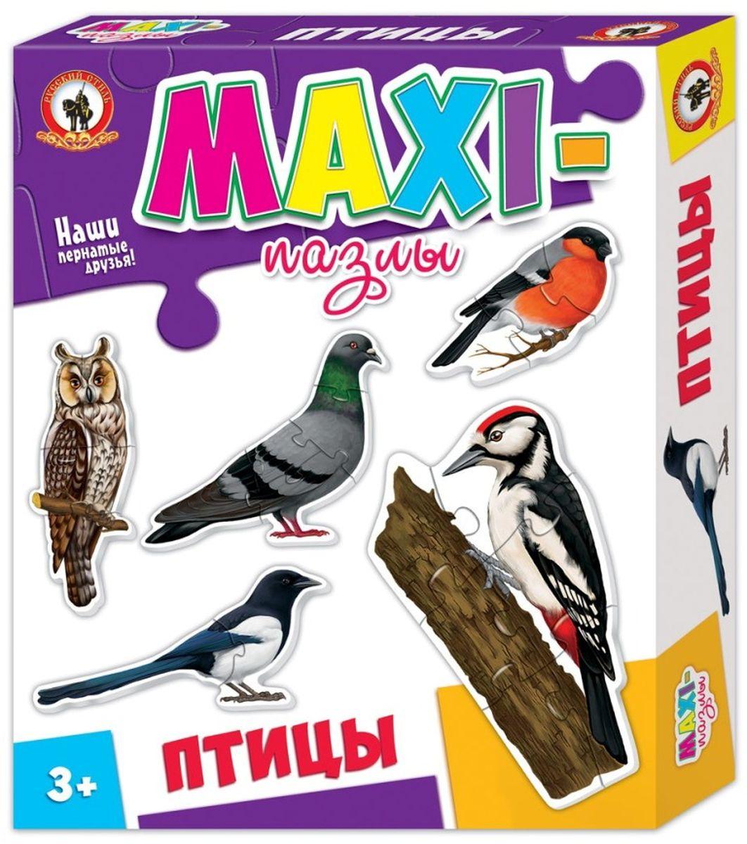 Русский стиль Макси пазлы Птицы03530Игра для детей от 3 лет. Состав набора: Сорока (2 элемента) Снегирь (3 элемента) Сова (4 элемента) Голубь (5 элементов) Дятел (6 элементов)