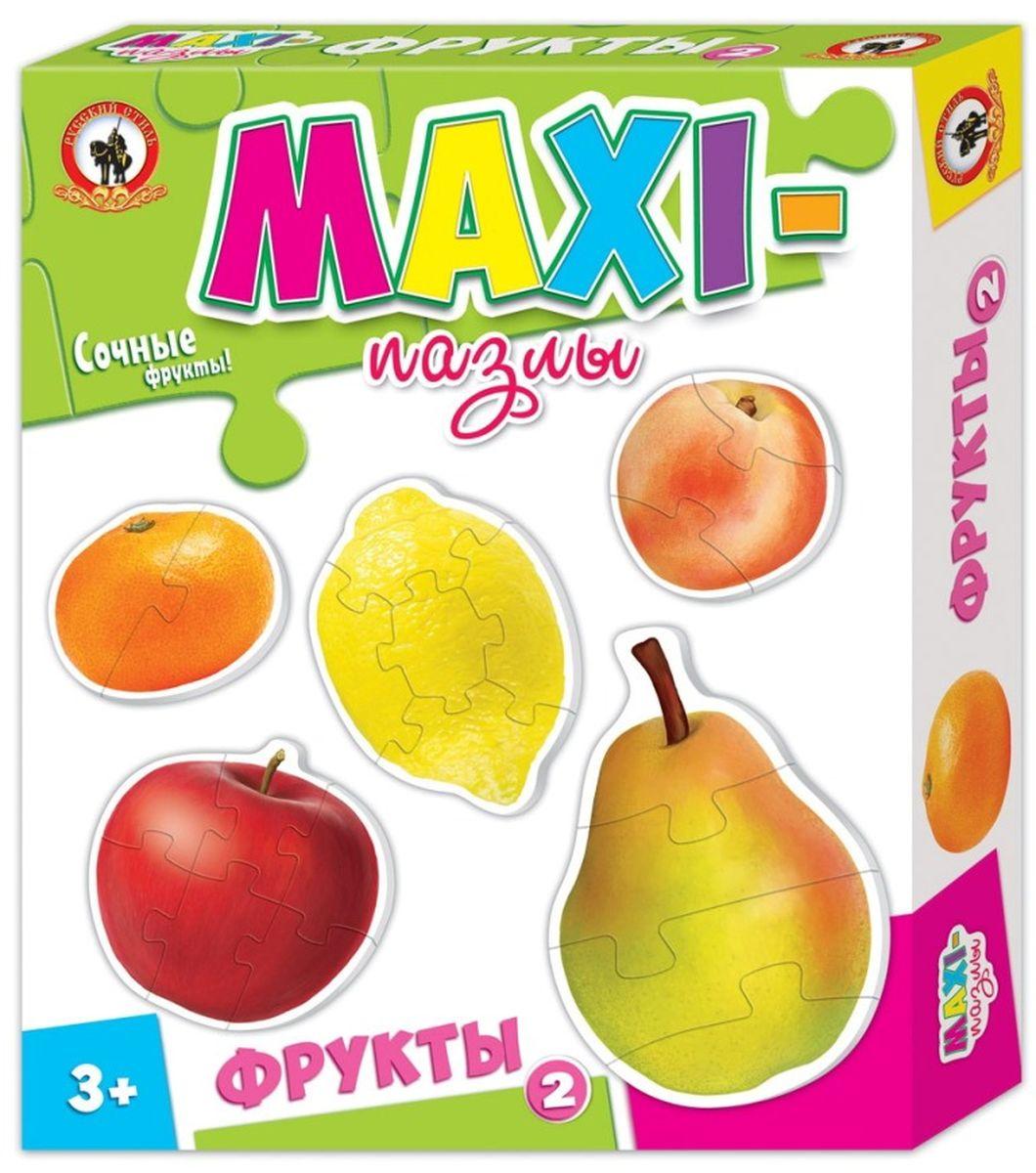 Русский стиль Макси пазлы Фрукты 203533Игра для детей от 3 лет. Состав набора: Мандарин (2 элемента) Персик (3 элемента) Груша (4 элемента) Лимон (5 элементов) Яблоко (6 элементов)