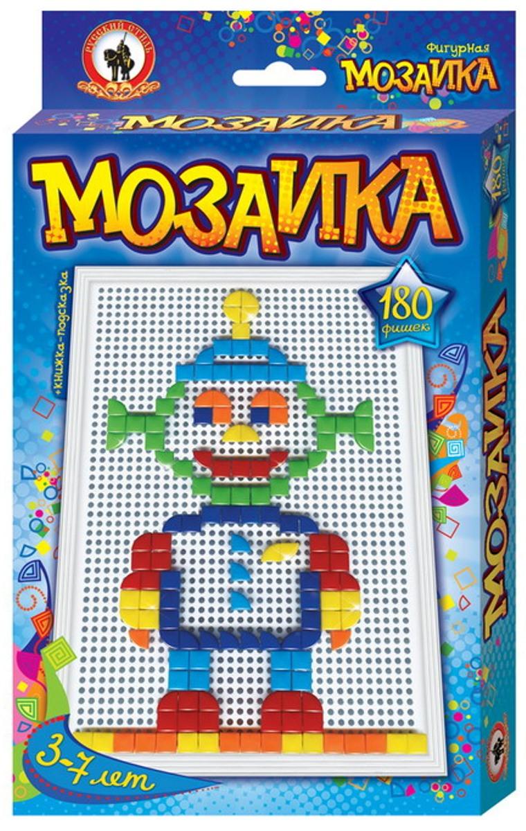 Русский стиль Мозаика фигурная Пришелец Большая плата03952Фишки мозаики треугольной и квадратной формы дают возможность юному мастеру варьировать контурную линию изображения, выкладывая ее прямой, либо округлой, в зависимости от силуэта рисунка. Игра для детей от 3 лет. Состав набора: Плата большая – 1 шт. Фишки 6 цветов треугольной и квадратной формы – 180 шт. Книжка-подсказка