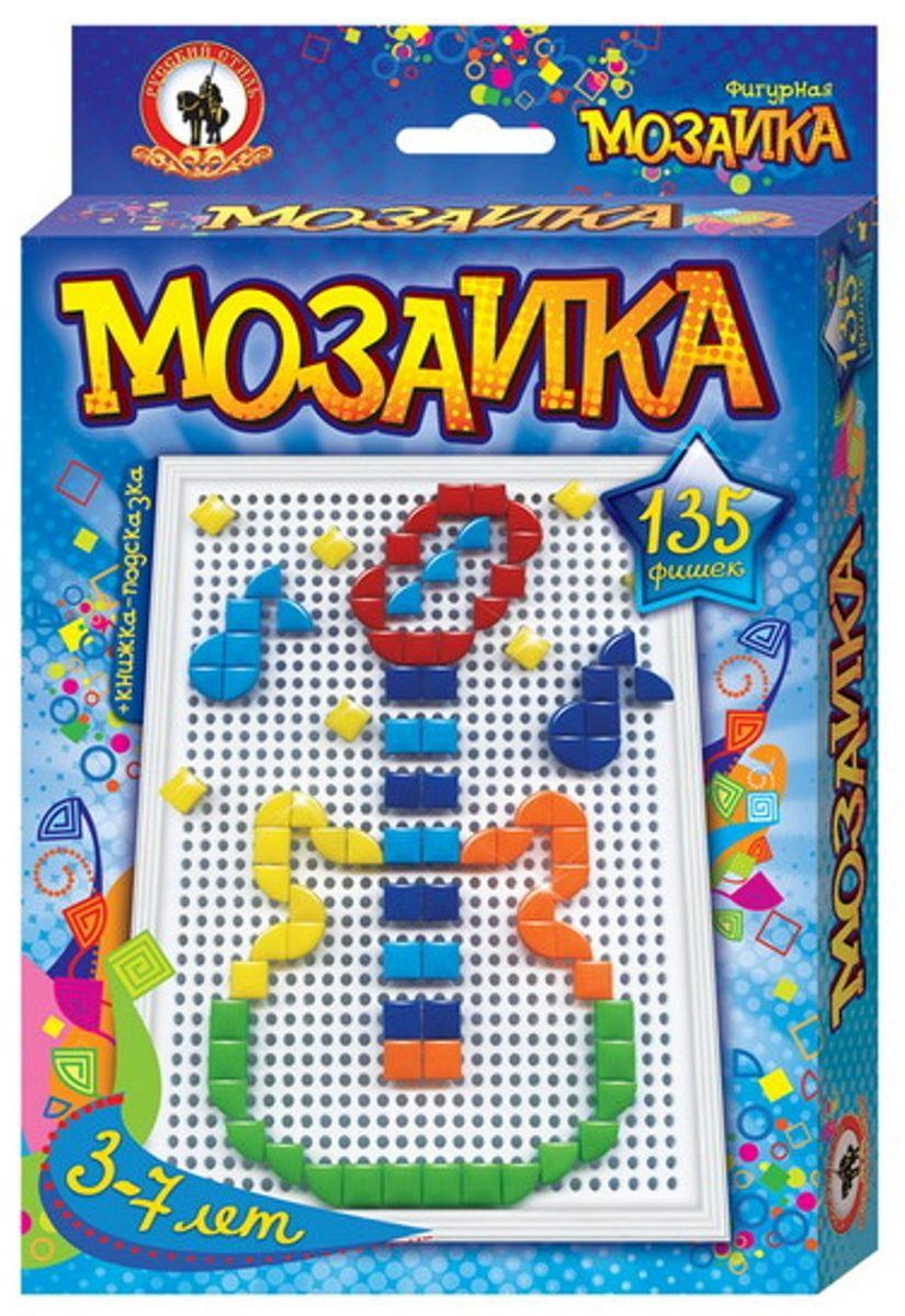 Русский стиль Мозаика фигурная Гитара Малая плата03953Фишки мозаики треугольной и квадратной формы дают возможность юному мастеру варьировать контурную линию изображения, выкладывая ее прямой, либо округлой, в зависимости от силуэта рисунка. Игра для детей от 3 лет. Состав набора: Плата малая – 1 шт. Фишки 6 цветов треугольной и квадратной формы – 135 шт. Книжка-подсказка