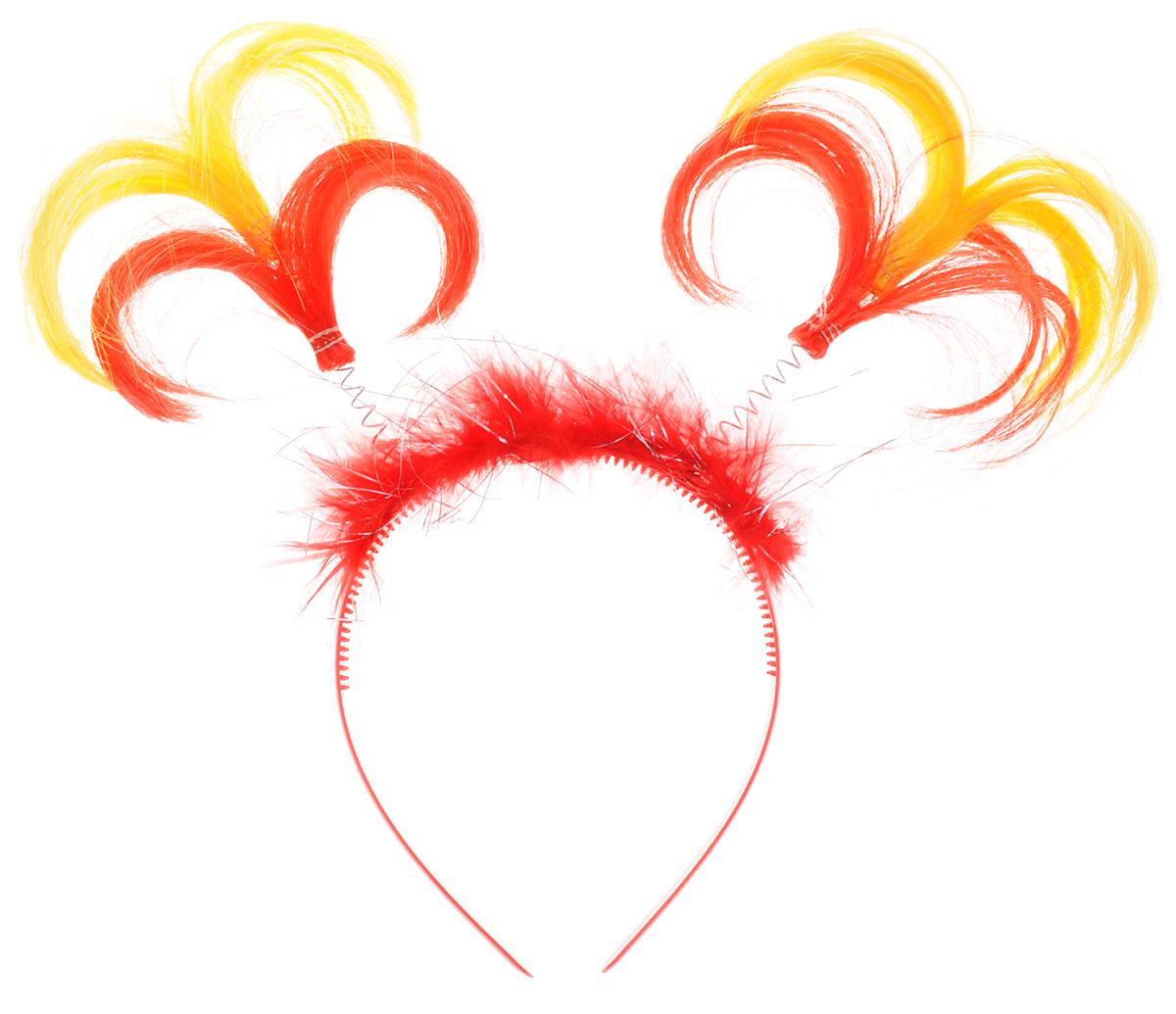 Феникс-Презент Ободок маскарадный Пеппи цвет красный желтый34605_ красный, желтыйМаскарадный ободок Феникс-Презент Пеппи выполнен из пластика и дополнен хвостиками из полиэстера на металлических пружинах. Ободок имеет универсальный размер. Если у вас намечается веселая вечеринка или маскарад, то такой аксессуар легко поможет создать праздничный наряд. Внесите нотку задора и веселья в ваш праздник. Веселое настроение и масса положительных эмоций вам будут обеспечены!