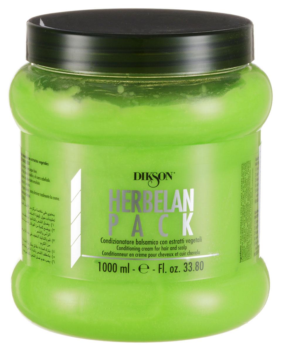 Dikson Растительный бальзам с ментолом, маслами ромашки и мальвы Herbelan Pack 1000 мл810Dikson Herbelan Pack по праву можно считать одним из самых эффективных средств, которые есть в линейке Dikson. Травяная кислота, которая лежит в его основе, способствует нейтрализации вялотекущего окисления, наступающего вследствие химических обработок, в том числе и осветления. Рекомендовано к применению в качестве основного средства для ухода за осветленными и окрашенными волосами. Травяная кислота позволяет окрашенным волосам сохранять свой блеск. Подходит волос для всех типов. В составе растительного бальзама содержатся следующие активные вещества: Эфирные масла мальвы и ромашки обеспечивают противовоспалительный и успокаивающий эффект. Ментол оказывает дезинфицирующее и оживляющее действие, охлаждает кожу головы, активизирует ее кровоснабжение.