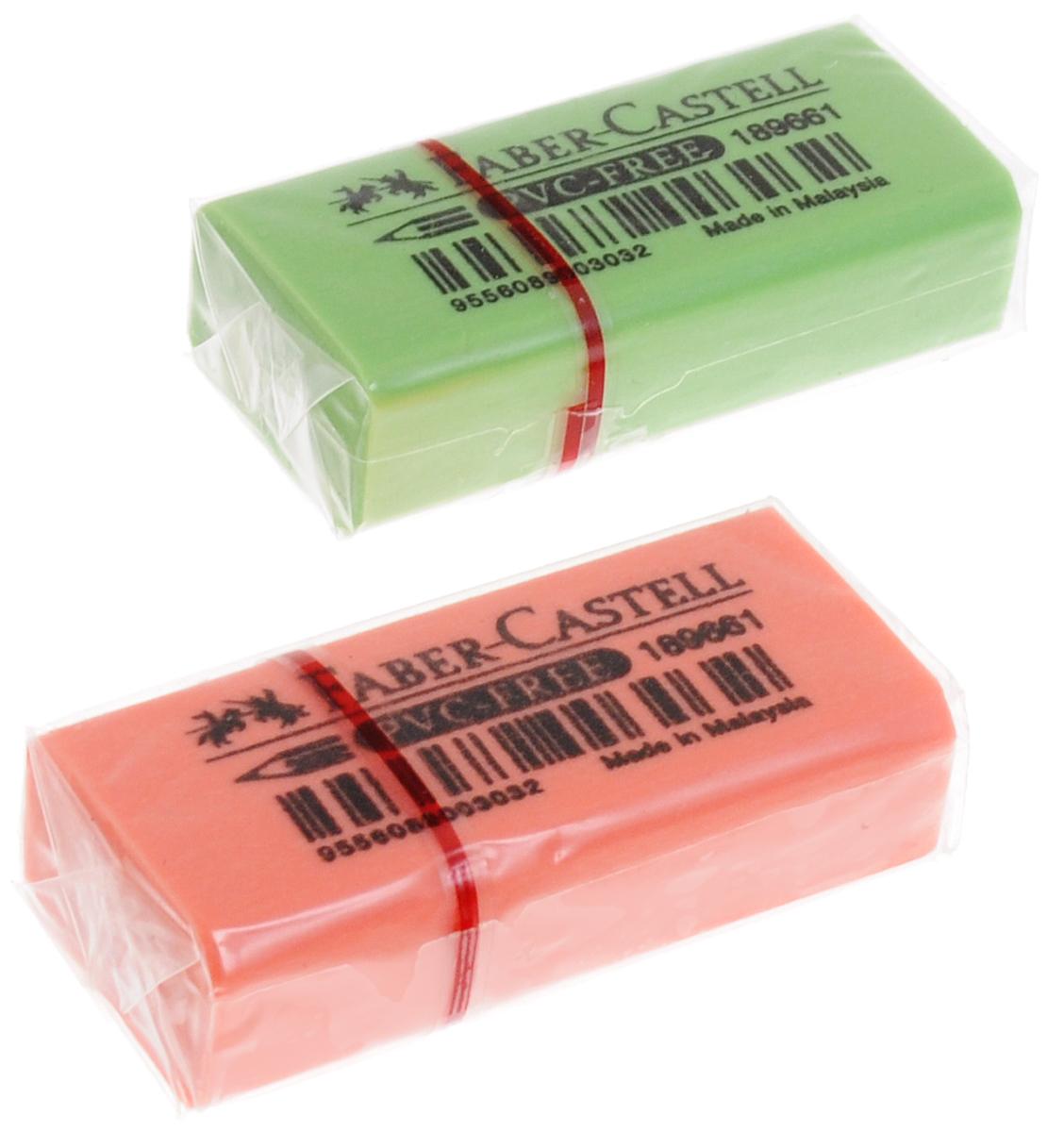 Faber-Castell Ластик флуоресцентный цвет салатовый оранжевый 2 шт263397_салатовый, оранжевыйЛастик флуоресцентный Faber-Castell станет незаменимым аксессуаром на рабочем столе не только школьника или студента, но и офисного работника. Аккуратный и не оставляет грязных разводов. Кроме того высококачественный ластик не содержит ПВХ. Не повреждает бумагу даже при многократном стирании. В наборе 2 ластика.