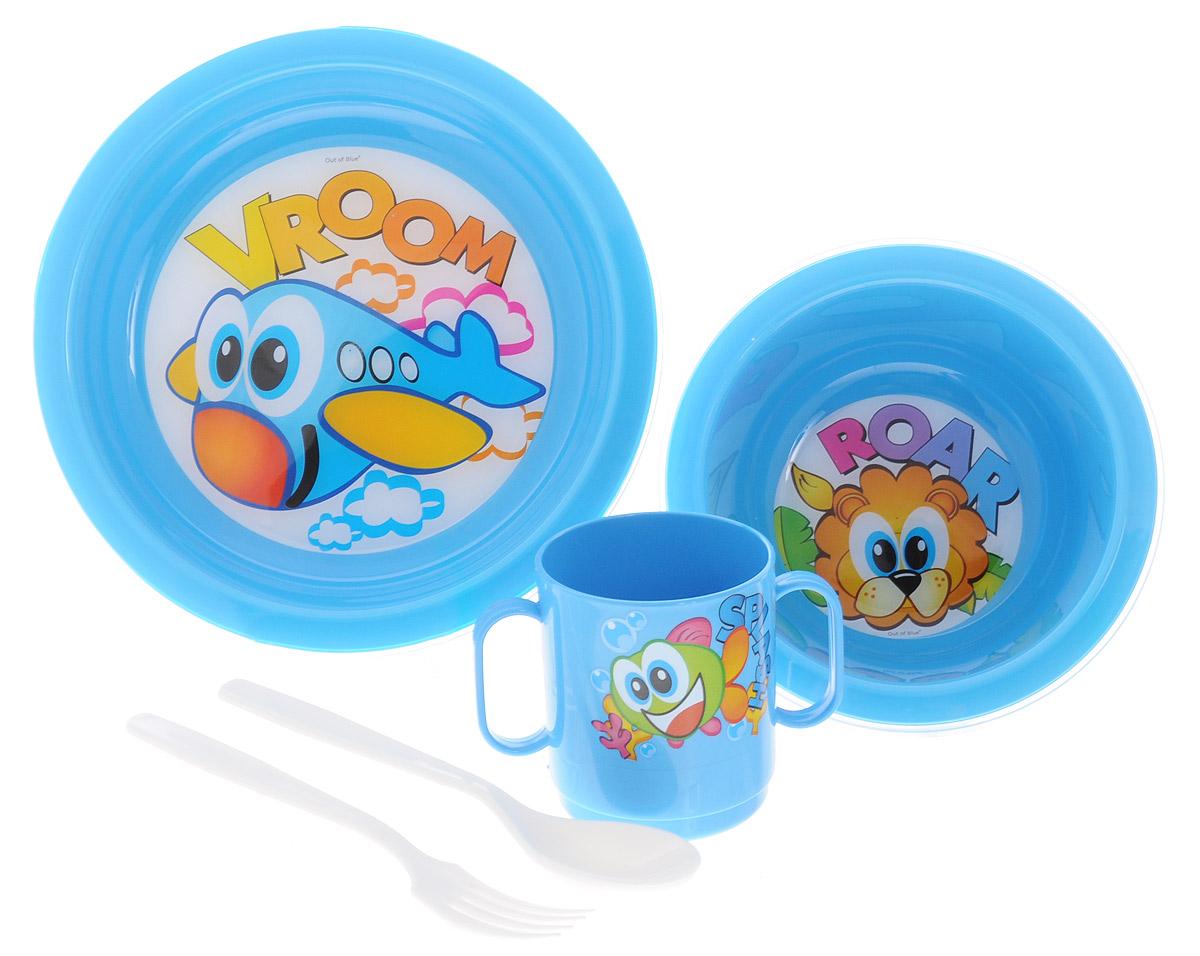 Cosmoplast Набор детской посуды Baby Tris Set Самолет 5 предметов2390_голубойНабор детской посуды Cosmoplast Baby Tris Set. Самолет состоит из суповой тарелки, обеденной тарелки, чашки с двумя ручками, вилки и ложки. Все предметы набора изготовлены из высококачественного пищевого пластика по специальной технологии, которая гарантирует простоту ухода, прочность и безопасность изделий для детей. Предметы сервиза оформлены красочными рисунками, которые обязательно понравятся вашему малышу. Не содержит бисфенол.