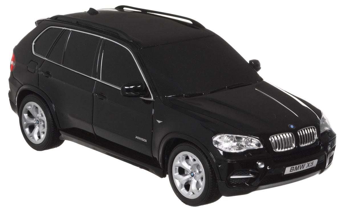 TopGear Радиоуправляемая модель BMW X5 цвет черный масштаб 1:24Т56671_ черныйВсе мальчишки любят мощные крутые тачки! Особенно если это дорогие машины известной марки, которые, проезжая по улице, обращают на себя восторженные взгляды пешеходов. Радиоуправляемая модель TopGear BMW X5 - это детальная копия существующего автомобиля в масштабе 1:24. Машинка изготовлена из прочного легкого пластика; колеса прорезинены. При движении передние и задние фары машины светятся. При помощи пульта управления автомобиль может перемещаться вперед, дает задний ход, поворачивает влево и вправо, останавливается. Встроенные амортизаторы обеспечивают комфортное движение. В комплект входят машинка, пульт управления, зарядное устройство (время зарядки составляет 4-5 часов), аккумулятор и 2 батарейки АА. Автомобиль отличается потрясающей маневренностью и динамикой. Ваш ребенок часами будет играть с моделью, устраивая захватывающие гонки. Для работы игрушки необходим сменный аккумулятор (входит в комплект). Для работы пульта управления...