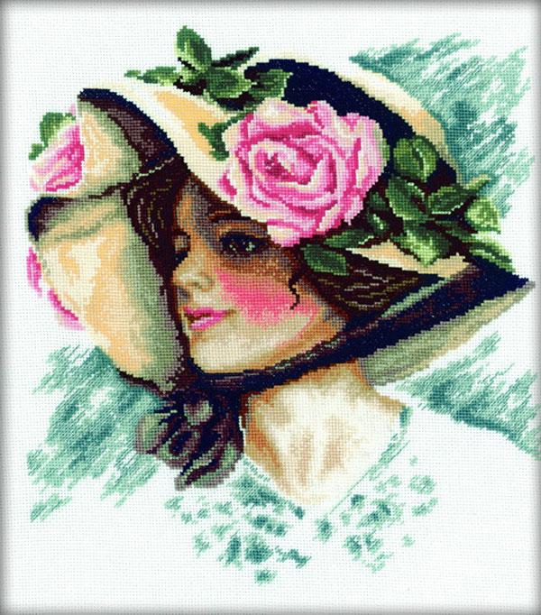 Вышивка крестом дамочек