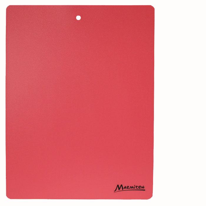 Доска разделочная Marmiton, гибкая, цвет: красный, 38 х 28 см17028_ красныйГибкая разделочная доска Marmiton прекрасно подходит для разделки всех видов пищевых продуктов. Изготовлена из гибкого одноцветного пластика для удобства переноски и высыпания. Изделие оснащено отверстием для подвешивания на крючок. Можно мыть в посудомоечной машине.