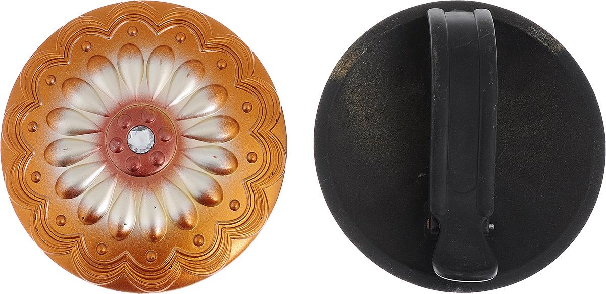 Клипса для штор Goodliving, цвет: бронзовый, диаметр 15 см, 2 шт7706131Клипсы для штор Goodliving выполнены из пластика в виде заколки. С помощью таких клипс можно зафиксировать портьеры, придать им требуемое положение, сделать складки симметричными или приблизить портьеры, скрепить их. Клипсы для штор являются универсальным изделием, которое превосходно подойдет как для штор в детской комнате, так и для штор в гостиной. Следует отметить, что клипсы для штор выполняют не только практическую функцию, но также являются одной из основных деталей декора, которая придает шторам восхитительный, стильный внешний вид. В комплекте - 2 клипсы. Диаметр клипсы: 15 см.