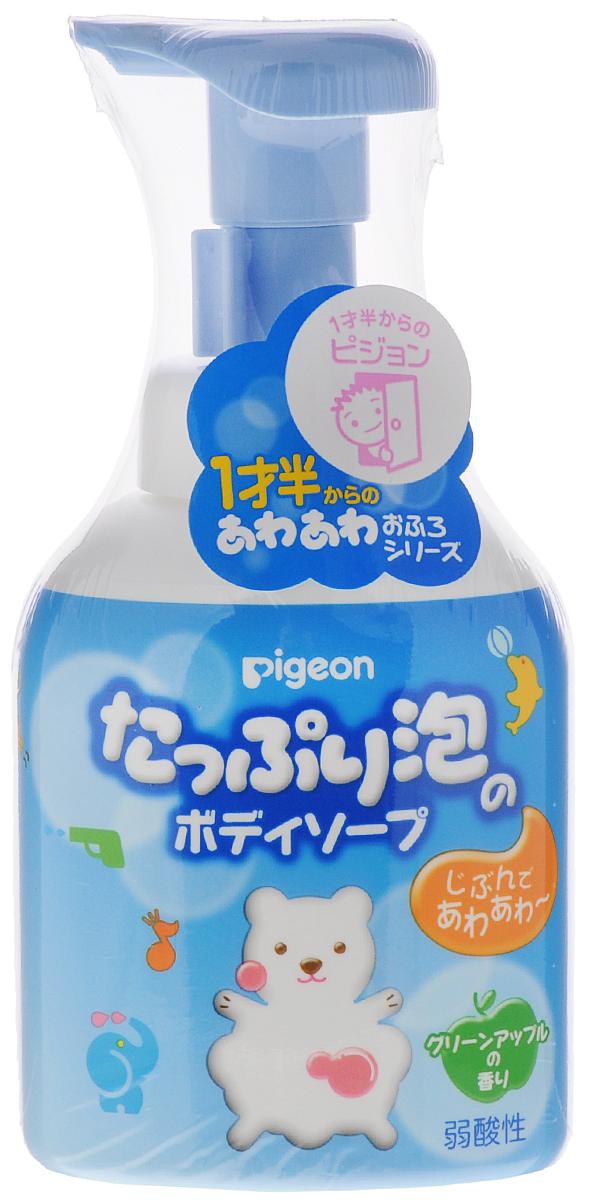 PIGEON Мыло-пенка для детей 18+ мес, флакон-дозатор, 350 мл33490078Легкое и воздушное мыло-пенка для детей Pigeon деликатно и эффективно очищает нежную детскую кожу. Уровень кислотности такой же, как у нежной кожи младенца. Не щиплет глазки. Благодаря экстракту листьев персикового дерева и гиалуроновой кислоте сохраняет естественную влагу кожи и защищает от неблагоприятных факторов внешней среды. Прошло аллергические испытания. Легкий аромат зеленого яблока. Удобный дозатор. Экономичный запасной блок.