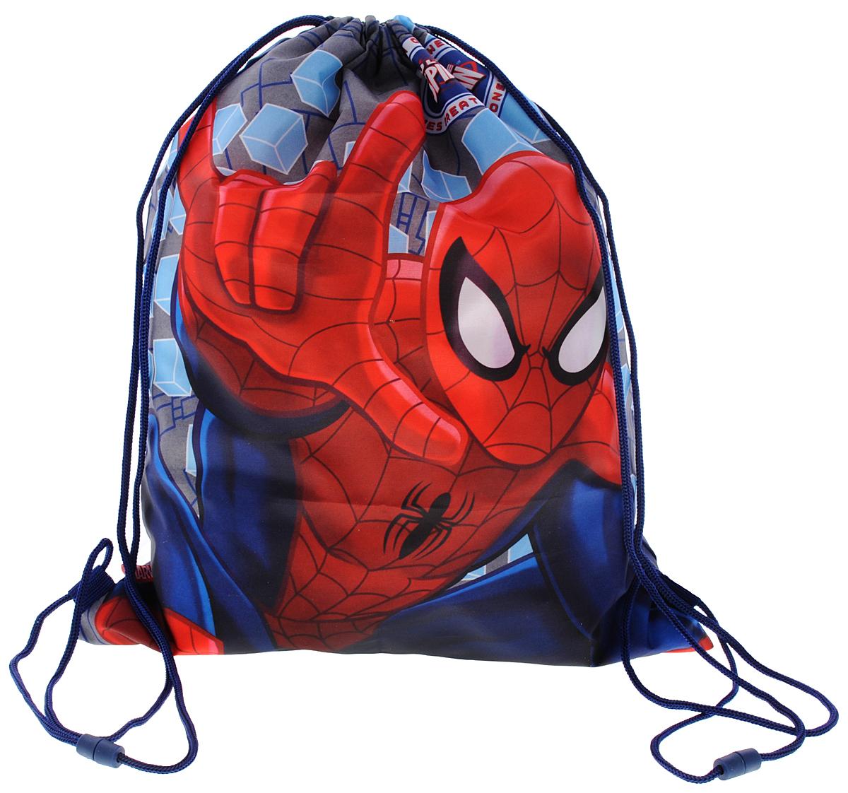 Spider-Man Мешок для обувиSMBB-UT2-883Мешок для обуви Spider-Man идеально подойдет как для хранения, так и для переноски сменной обуви и одежды. Сумка выполнена из прочного полиэстера и содержит одно вместительное отделение, затягивающееся с помощью текстильных шнурков. Шнурки фиксируются в нижней части сумки, благодаря чему ее можно носить за спиной как рюкзак. Оформлено изделие изображением Человека-паука. Ваш ребенок с радостью будет ходить с таким аксессуаром в школу!