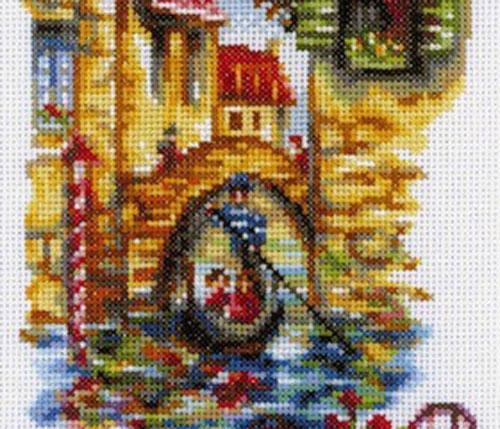 Набор для вышивания крестом RTO Живописные каналы Венеции, 15 х 23 смM294Красивый рисунок-вышивка, выполненный на канве, выглядит оригинально и всегда модно. Работа, сделанная своими руками, создаст особый уют и атмосферу в доме и долгие годы будет радовать вас и ваших близких. Набор для вышивания RTO Живописные каналы Венеции содержит все необходимые материалы. Вышивка выполняется швом счетный крест в две нити мулине. В состав набора входит: - канва Aida 14 белого цвета (100% хлопок), 5,5 клеток = 1 см; - вышивальные нитки-мулине DMC на карте, разобранные по цветам (32 цвета, 100% хлопок); - символьная схема; - инструкция; - игла для вышивания. Уровень сложности: 3.