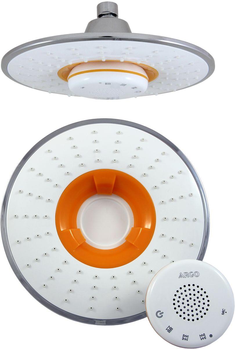 Argo музыкальный верхний душ Sound, белый/оранж34990Музыкальный верхний душ Argo Sound, белый/оранж