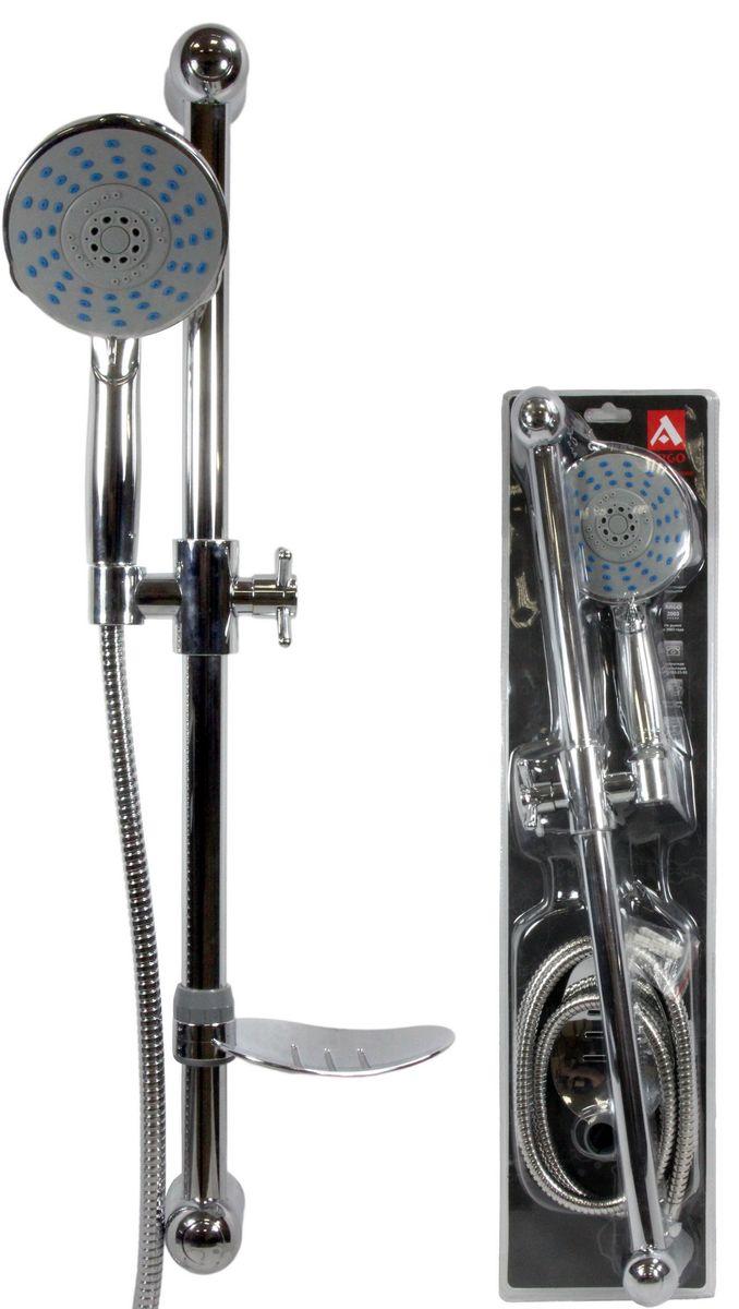 Argo Душевой набор: лейка, шланг, стойка, мыльница, DISC36414Душевой набор: лейка, шланг, стойка, мыльница, disc, Argo покрытие лейка, шланг, стойка, мыльница